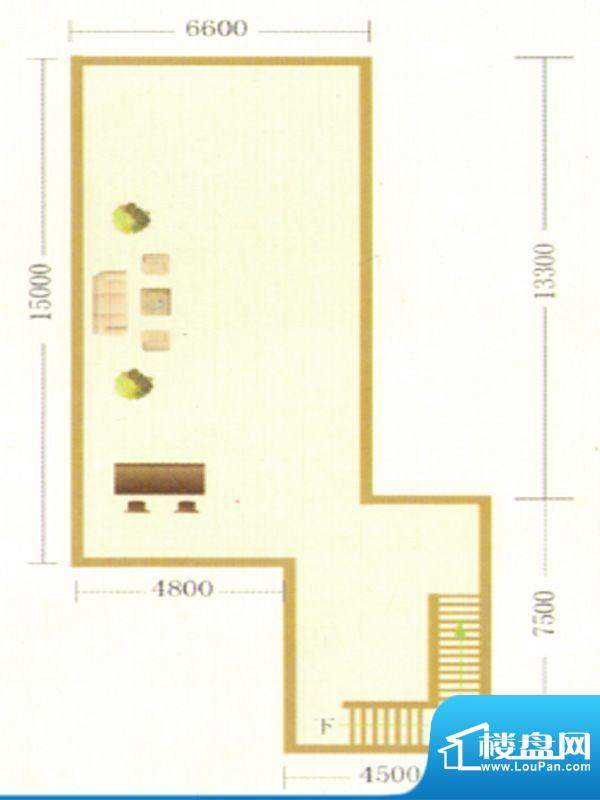 御龙瀚府商铺二层户面积:0.00m平米