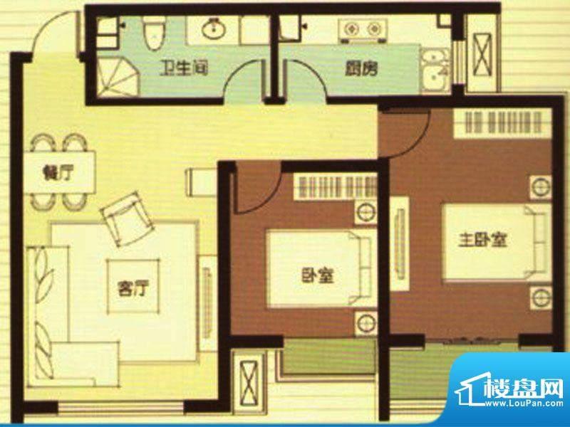 武阳秀美C座2-C户型面积:86.84m平米