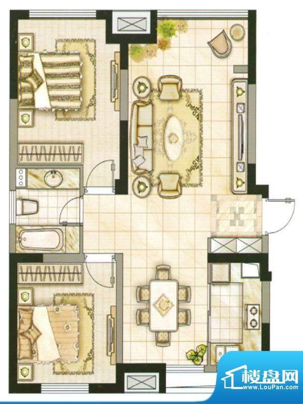承德·世纪城2号楼A面积:101.46m平米