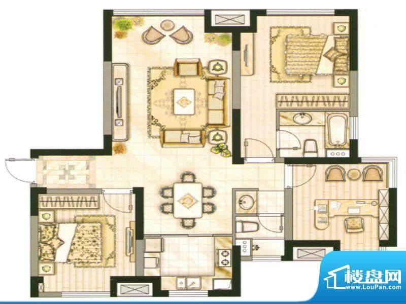 承德·世纪城2号楼C面积:125.93m平米
