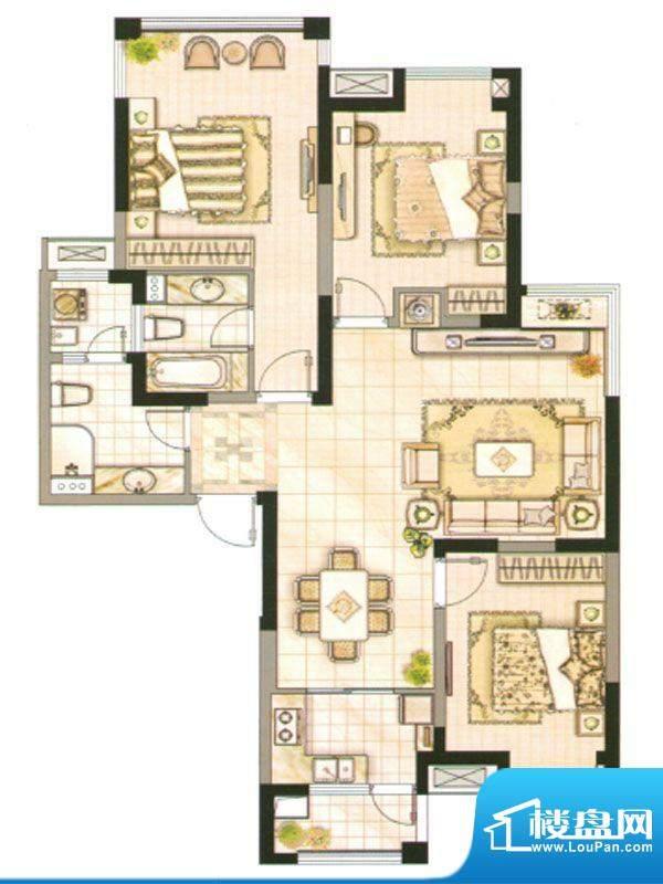 承德·世纪城3号楼D面积:142.32m平米