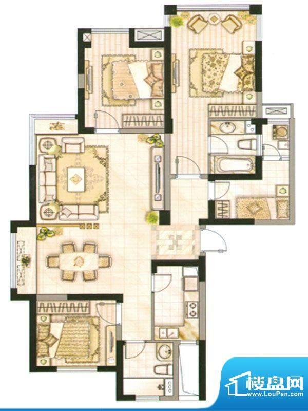 承德·世纪城3号楼E面积:150.74m平米