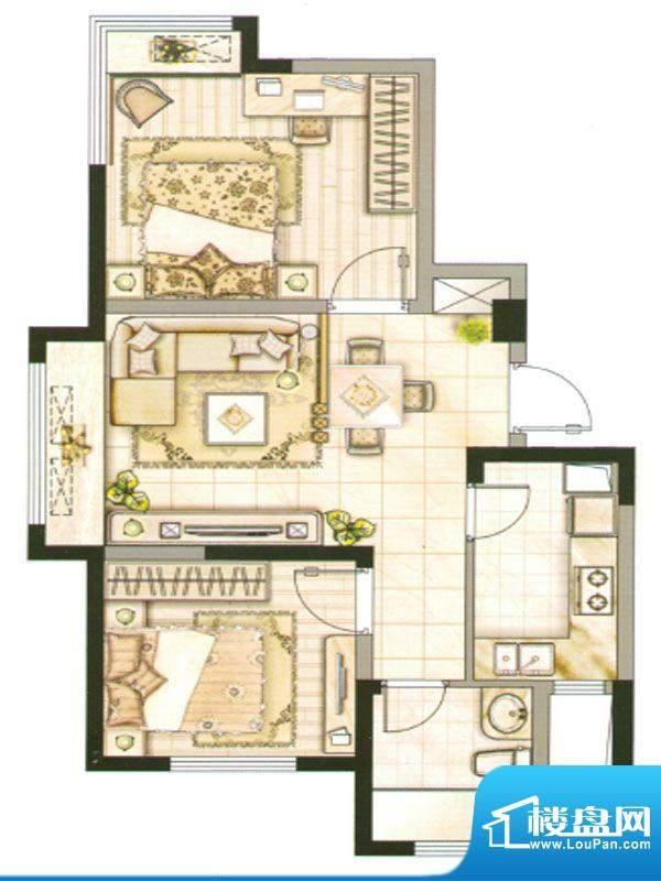 承德·世纪城3号楼G面积:76.97m平米