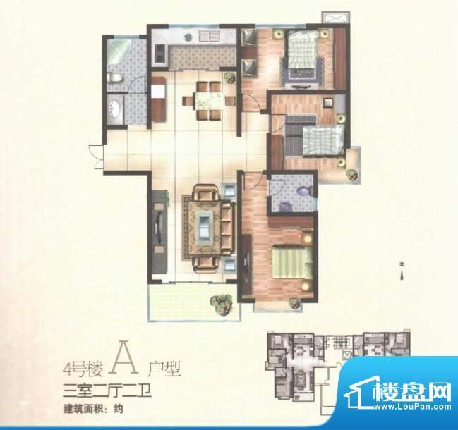 秀水雅苑四号楼A户型面积:0.00m平米