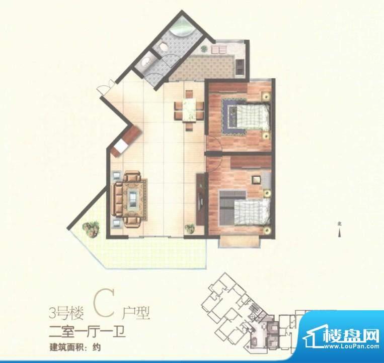 秀水雅苑三号楼C户型面积:0.00m平米