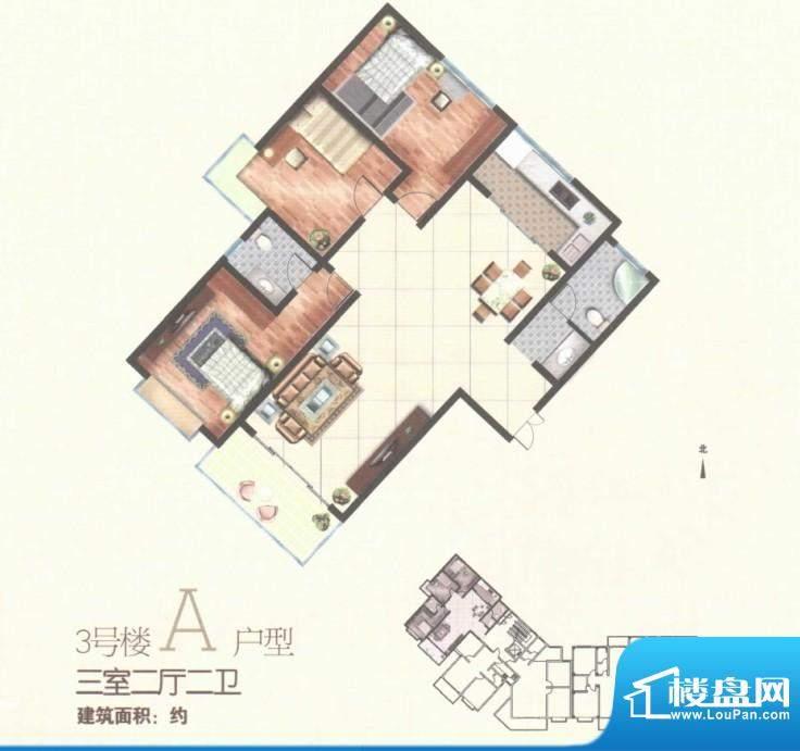 秀水雅苑三号楼A户型面积:0.00m平米