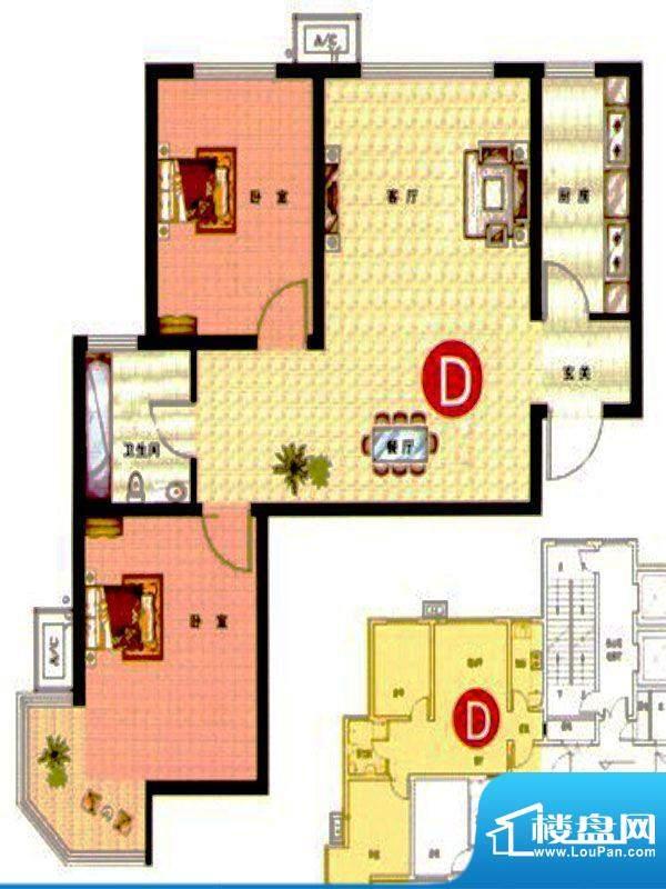 武阳丽园II1、2号楼面积:93.00m平米