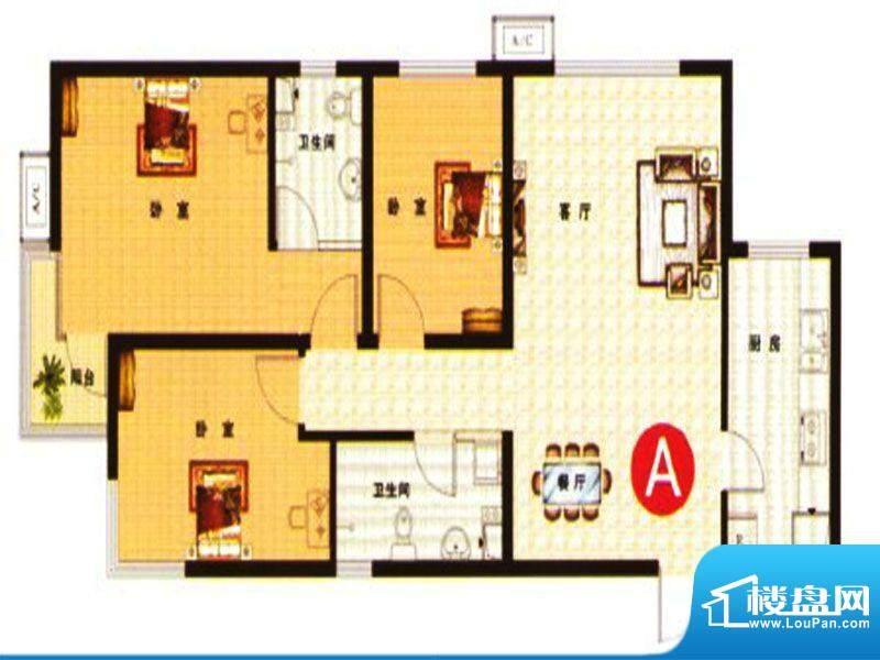 武阳丽园I1、2号楼A面积:113.00m平米