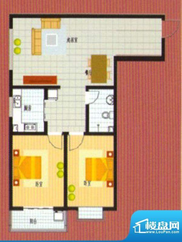 悦城华府户型2面积:97.00m平米