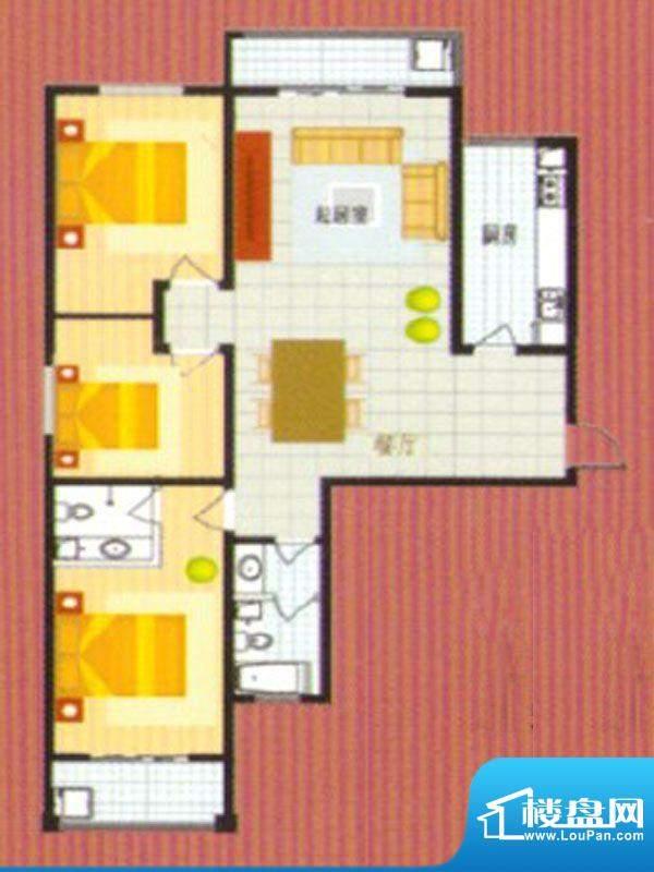 悦城华府户型5面积:145.00m平米