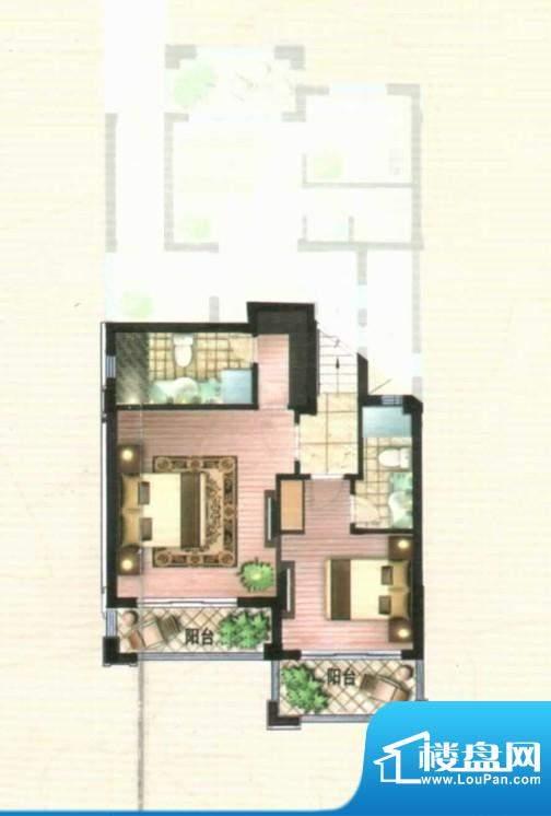 爱伦坡叠拼二层68面积:68.46m平米