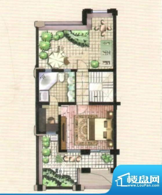 爱伦坡联排三层46面积:46.49m平米