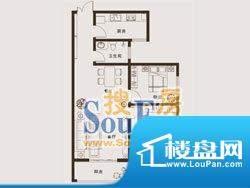 上海城户型1: 2室2厅面积:94.61m平米