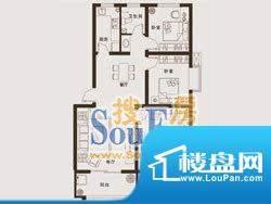 上海城户型6: 3室2面积:101.15m平米
