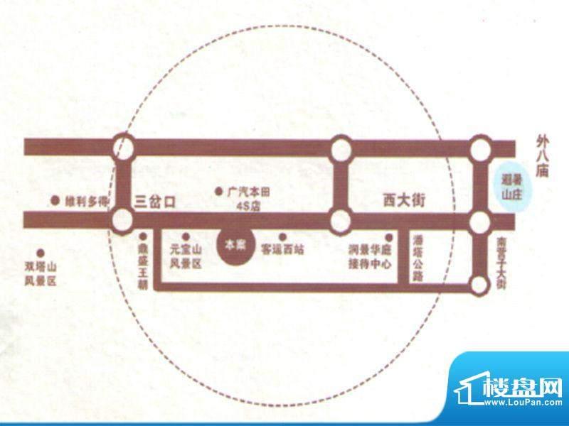 润景华庭交通图