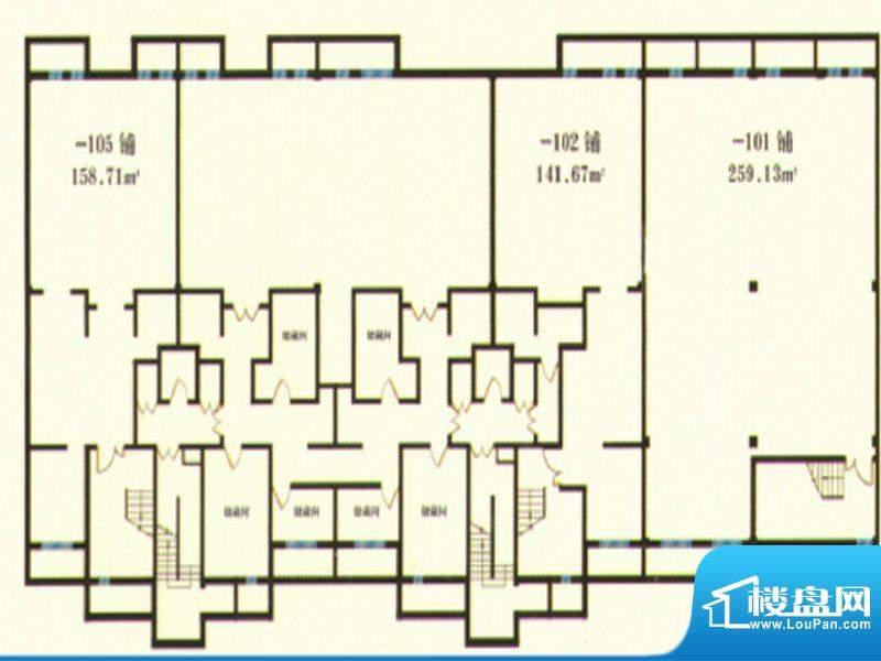 润景华庭户型商铺2号面积:0.00m平米