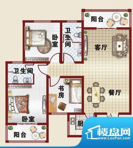 万和城户型图-A新面积:116.79m平米