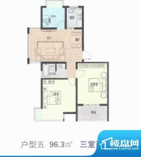 滨河新天地户型五 9面积:0.00m平米