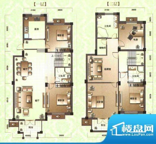 滨河阳光C2 5室3厅3面积:320.00m平米