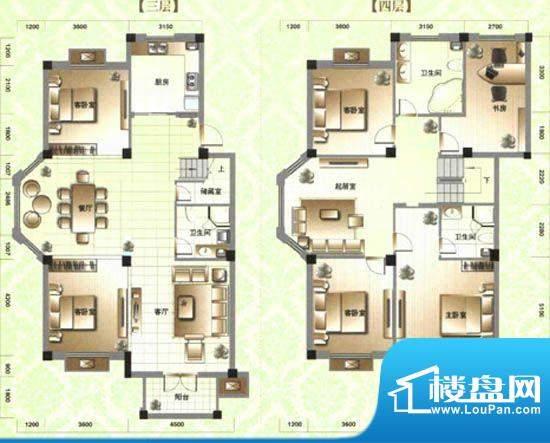 滨河阳光C3 6室3厅3面积:251.00m平米