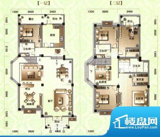 滨河阳光E1 6室4厅3面积:258.39m平米
