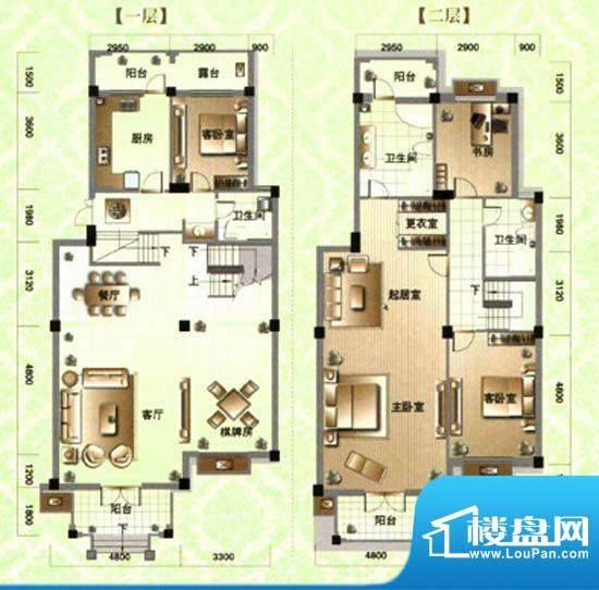 滨河阳光E2a 5室3厅面积:0.00m平米