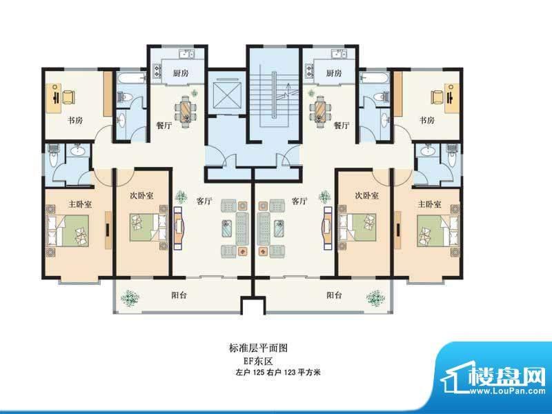 滨河绿洲4 3室2厅2卫面积:125.00m平米