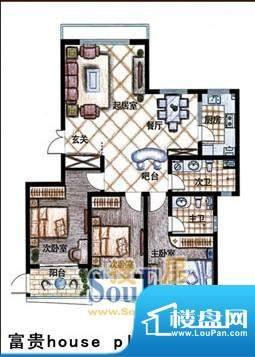 德居一品富贵 3室2厅面积:138.55m平米