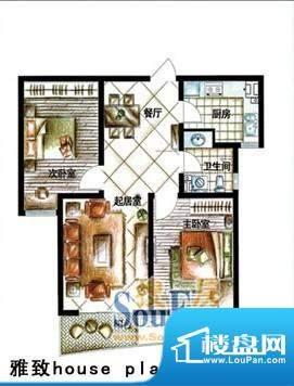 德居一品雅致 2室2厅面积:87.25m平米