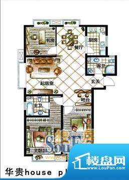 德居一品华贵 3室2厅面积:132.10m平米