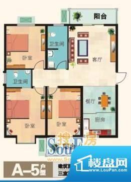 福兴国际A-5户型 3室面积:121.10m平米
