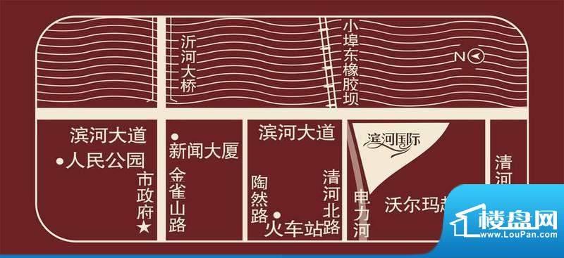 滨河国际交通图