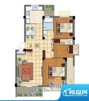金泰华城户型图 面积:0.00m平米