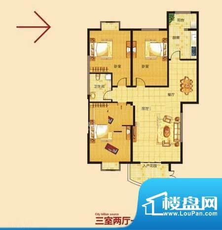 亿源龙城天骄峰景2 面积:125.00m平米