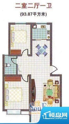 蓝湖名邸D户型 面积:0.00m平米
