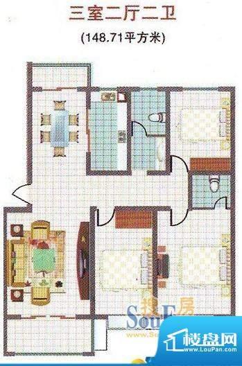 蓝湖名邸A户型 面积:0.00m平米
