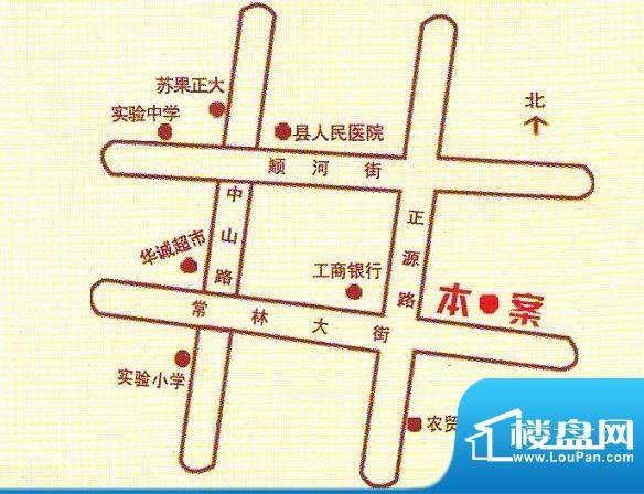 中央现代城交通图