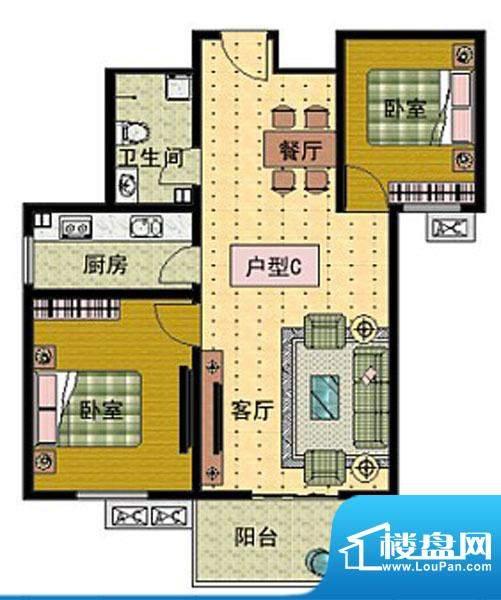 崇文社区户型C面积:0.00m平米