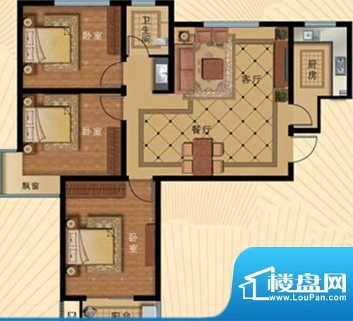 壹克拉公馆户型109.面积:0.00m平米