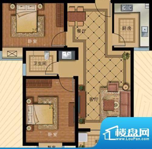 壹克拉公馆户型84.2面积:0.00m平米