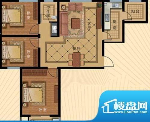 壹克拉公馆户型111.面积:0.00m平米