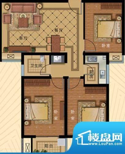 壹克拉公馆户型98.7面积:0.00m平米