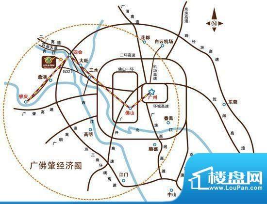 金凯盛·誉城交通图