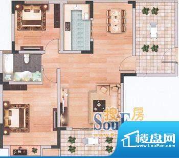上海城一单元401/四面积:106.13m平米