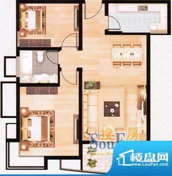 上海城经典两房01 2面积:85.87m平米