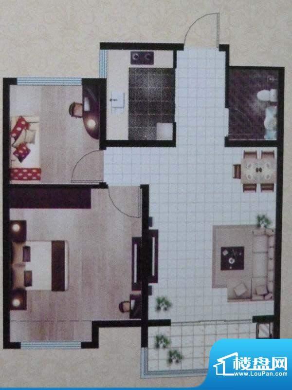 当代·国际广场一期面积:83.00m平米