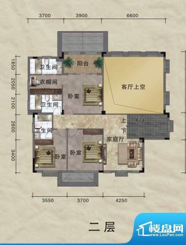 珀丽湾A型独栋别墅二面积:430.00m平米