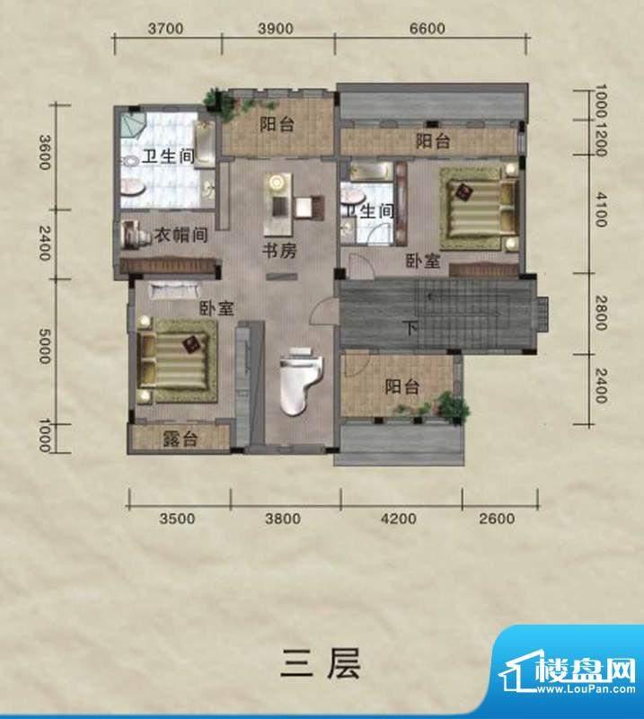 珀丽湾A型独栋别墅首面积:430.00m平米