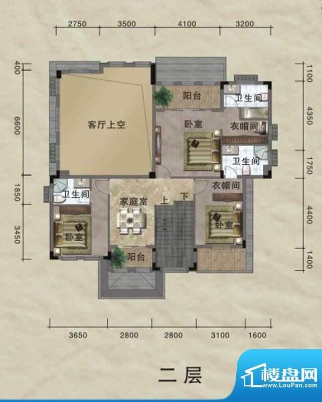 珀丽湾B型独栋别墅二面积:391.00m平米