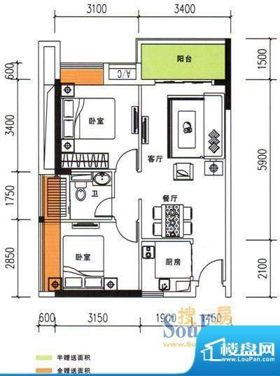 阳光·未来城A1栋01面积:67.00m平米